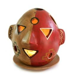 """Windlicht aus Keramik """"Maske"""""""