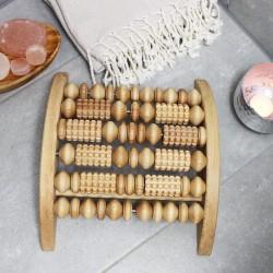 Fußmassage Gerät mit Rollen aus Holz