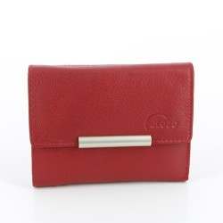 Geldbörse aus Rindleder rot Simple Line