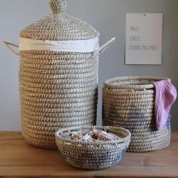 Korb Bowl aus Kaisa-Gras rund Molly