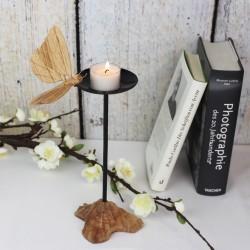 Kerzenständer aus Holz Schmetterling