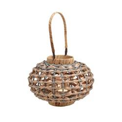 Laterne Bola aus Kunststoff, Glas, Metall
