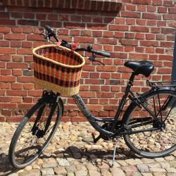 Fahrradkorb Amsterdam orange/lila