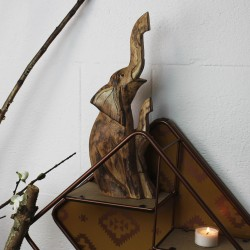 Elefanten-Duo aus Holz geschnitzt