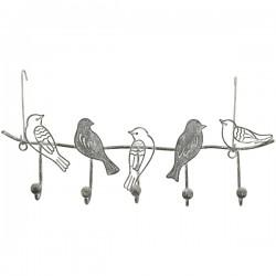 Hakenleiste 'Vögel' aus Metall