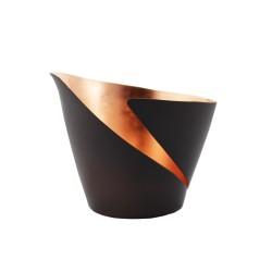 Teelichthalter   Teelichtschale Break bronze/kupfer