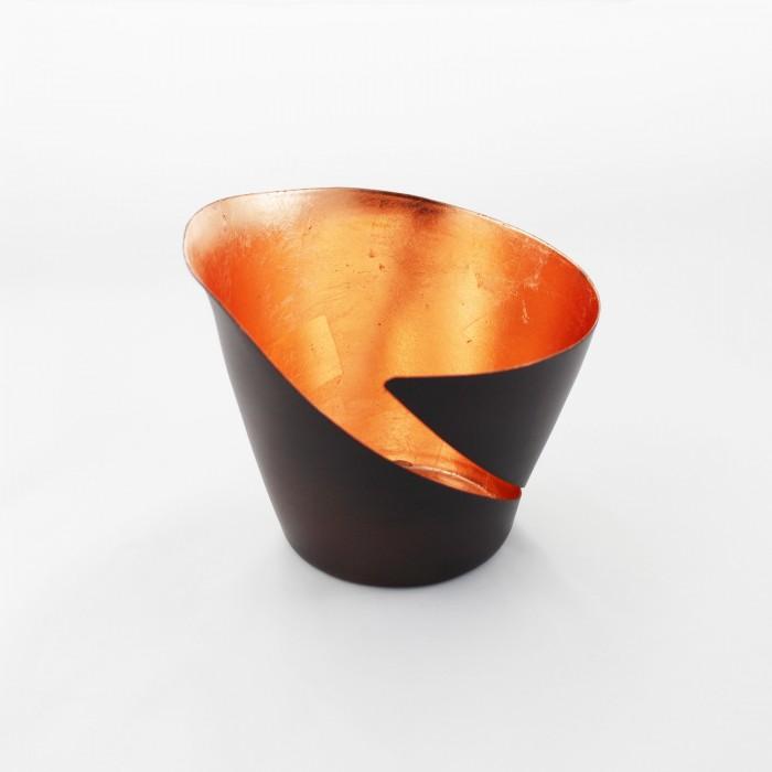 Teelichthalter | Teelichtschale Break bronze/kupfer