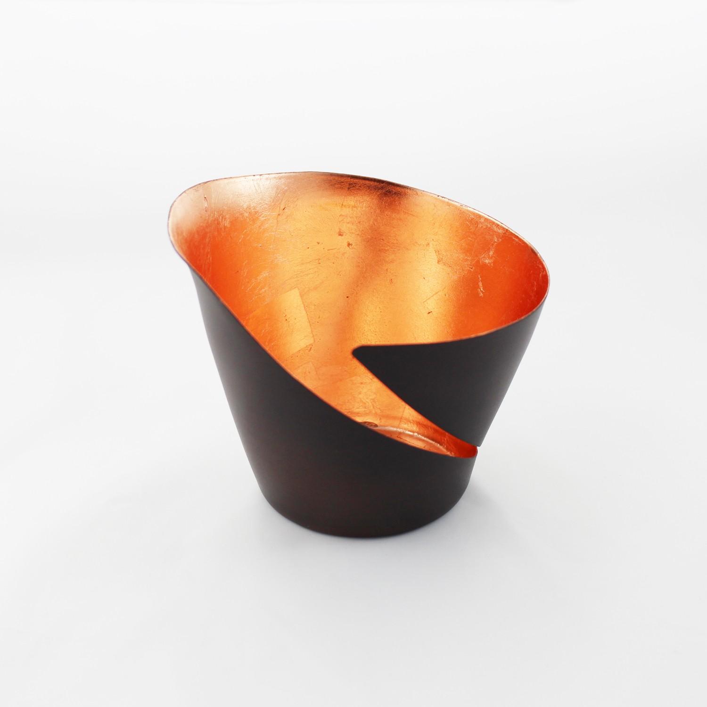 Teelichthalter | Teelichtschale Break bronze/kupfer kaufen