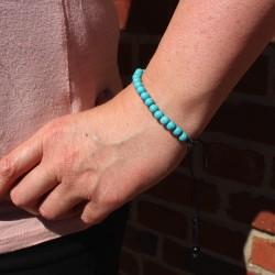 Armband aus Steinperlen aqua 5mm