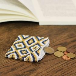Geldbörse aus Perlen Elegant weiss
