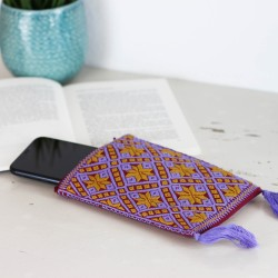 Handgewebte Handy Tasche lila