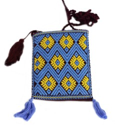 Handgewebte Handy Tasche hellblau