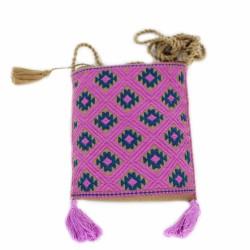 Handgewebte Handy Tasche pink