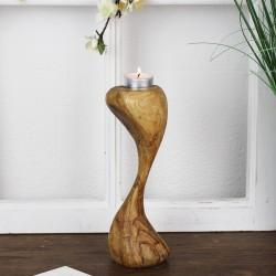 Telichthalter 23cm aus Olivenholz