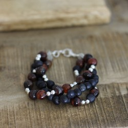 Perlenarmband Oaxaca braun