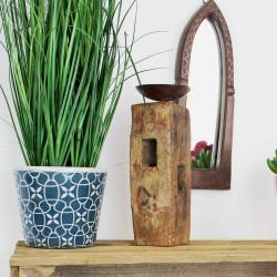 Blumentopf aus Keramik blau 14cm