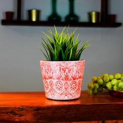Blumentopf aus Keramik orange