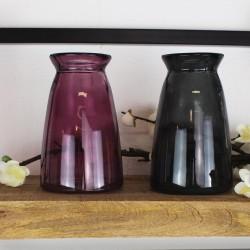 Vase aus Recyclingglas Edwin pink