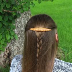Haarspange aus Olivenholz Sophia