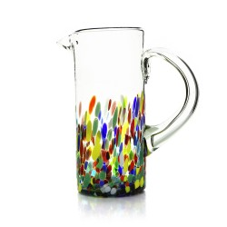 Krug aus mundgeblasenem Glas aus Mexiko Confetti