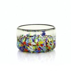 Müslischale aus mundgeblasenem Glas Confetti