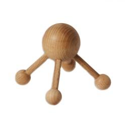 Massagespinne mit 4 Beinen aus Holz 8,8 cm