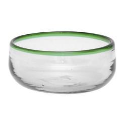 Müslischale aus mundgeblasenem Glas grün