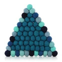 Topfuntersetzer aus Filz Dreieck blau