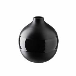 Vase Kugelig schwarz