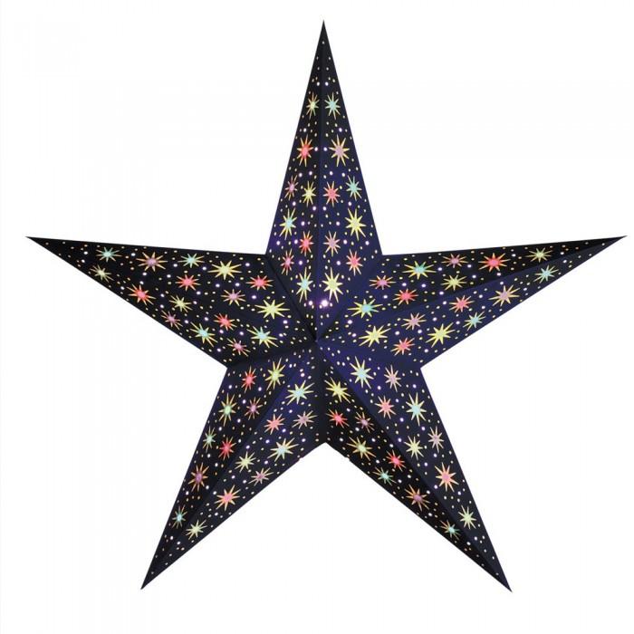 """Papierstern beleuchtet   Weihnachtsstern """"Starlet midnight blue"""""""