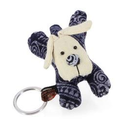 Schlüsselanhänger aus Baumwolle Hund