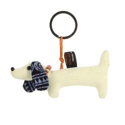 Schlüsselanhänger aus Baumwolle Dackel