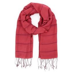 Schal aus Wolle/Baumwolle rot