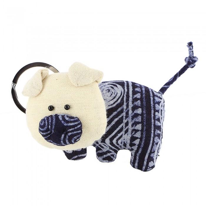 Schlüsselanhänger aus Baumwollle Schweinchen