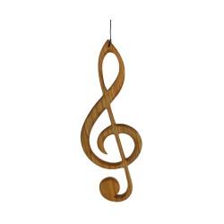 Fensterdeko aus Holz, Violinschlüssel
