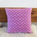 Sofakissen Ethno rosa Webstoff aus Guatemala 50 x 50