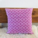 Sofakissen Ethno rosa Webstoff aus Guatemala 50x50