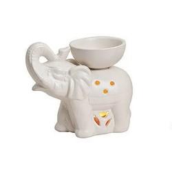 Duftlampe aus Keramik Elefant weiß