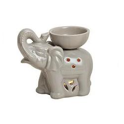 Duftlampe aus Keramik Elefant grau