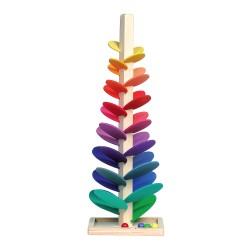 Holzspielzeug für Kinder Murmelklangbaum bunt 32cm