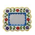 Deko-Wandspiegel blau und weiß klein - rechteckig