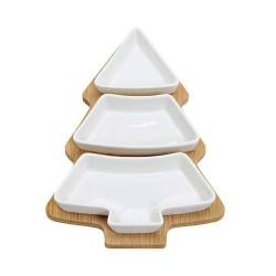 Snack Schale Tannenbaum aus Porzellan 4-teilig