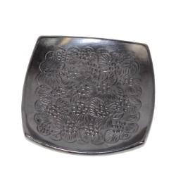 Handgemachter Deko Teller aus Mexiko in schwarz