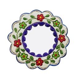 Deko-Hänger Spiegel Klein lila und weiß - Kreis