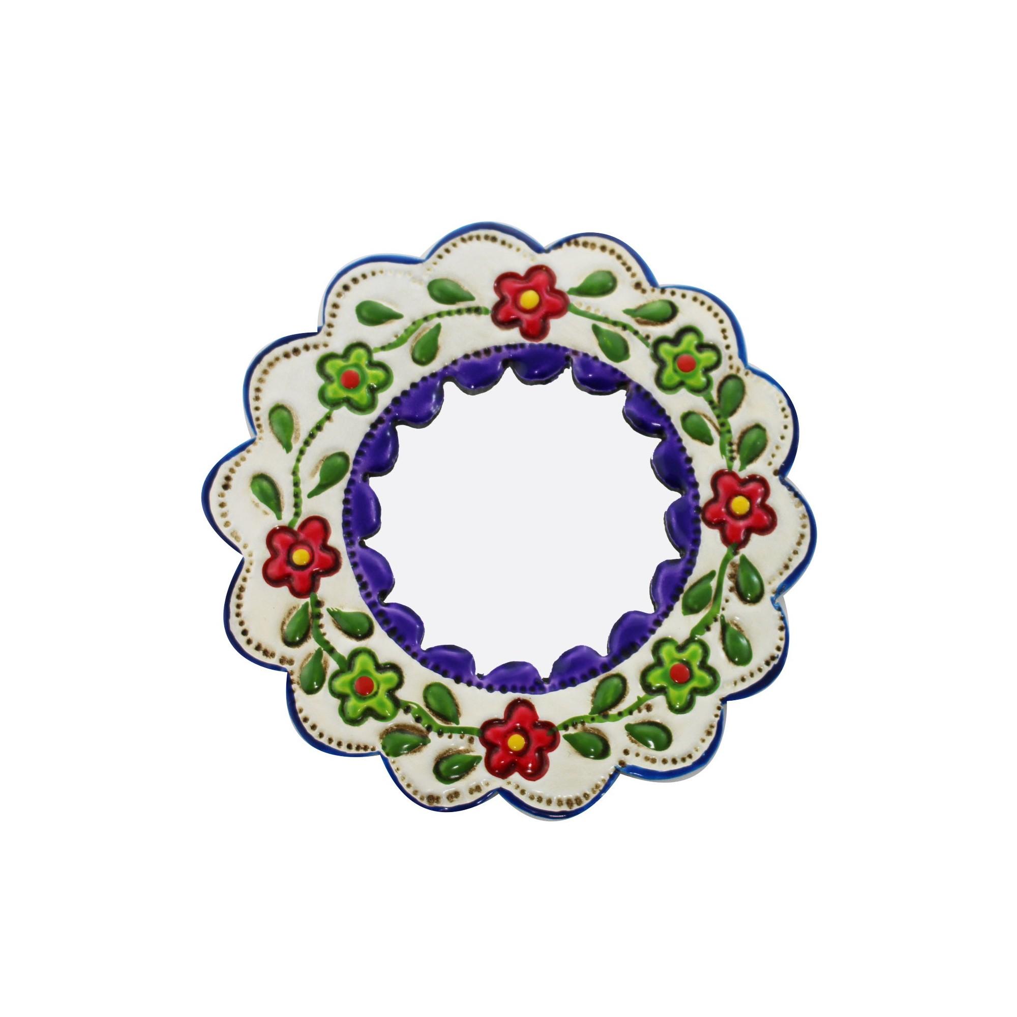 Deko wandspiegel klein lila und wei rund kaufen - Deko wandspiegel ...