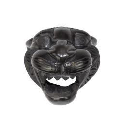 Handgemachte Dekofigur aus Mexiko Jaguar Kopf