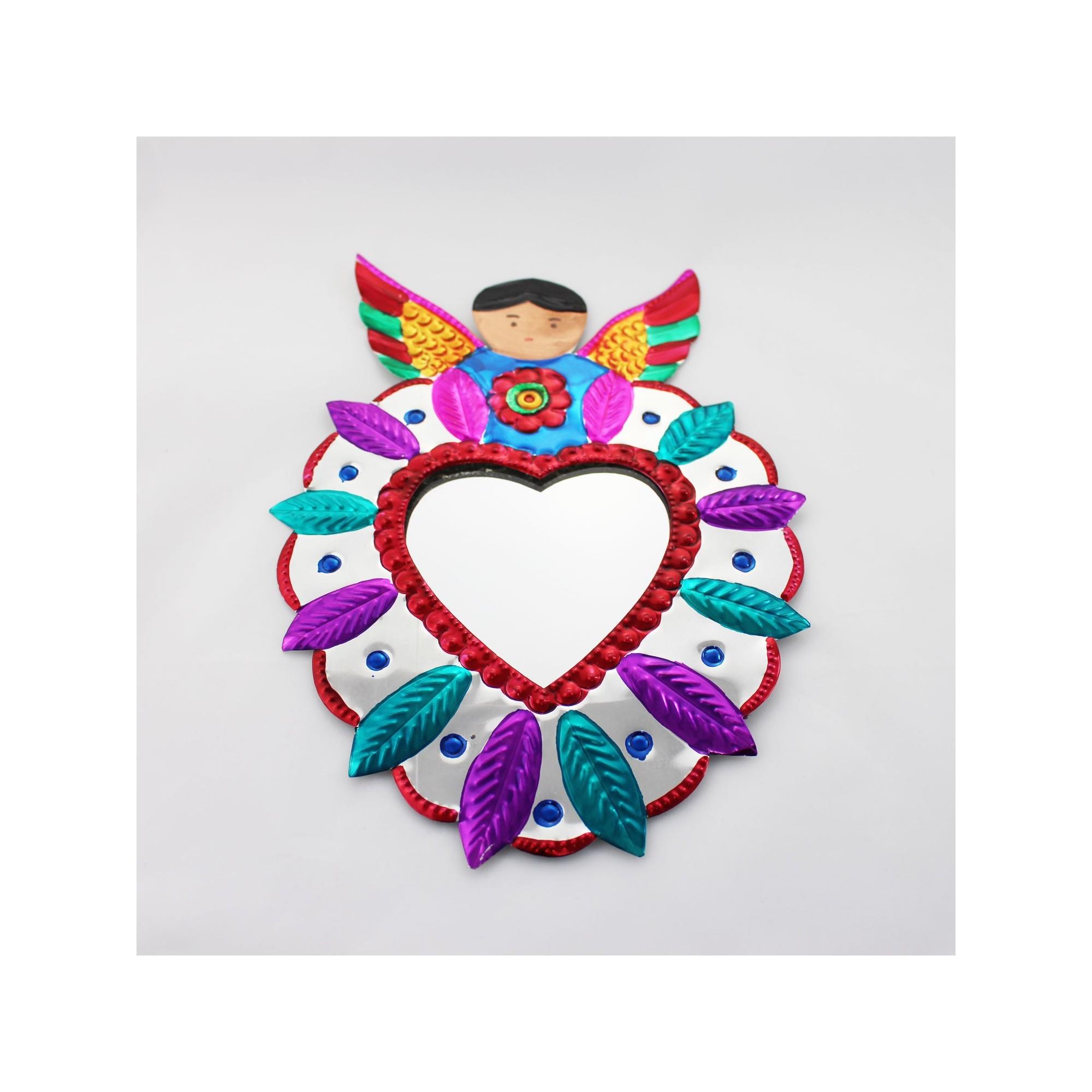 Deko-Wandspiegel Herz mit Engel, Wanddeko kaufen