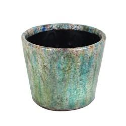 Blumentopf aus Keramik grün 14cm Sea Grass