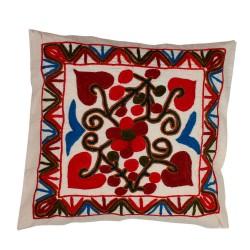 Türkische Sofakissen rot blau Blume, Dekokissen