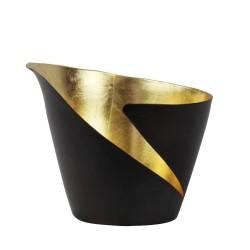 Teelichthalter Break bronze/gold